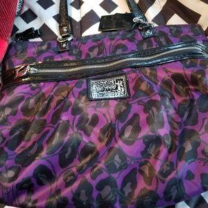 Purple poppy coach purse